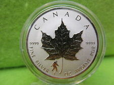 2016 CANADIAN BIGFOOT PRIVY 1 OZ SILVER COIN-LIMITED MINTAGE