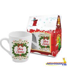 """REGALO di Natale caffè tè tazza """"BUON NATALE-Verde tema"""" IN THE BOX 300ml"""