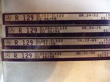n°e609 lot 4 microfiche mercedes r129 a partir 06/1998