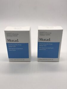 2 x MURAD Clarifying Oil-Free Water Gel .17oz/5mL Travel Size NEW IN BOX