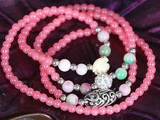 Ms-311 HAWAII ROSA PERLINE PINK pearls Catena Collana Necklace Bracelet Bracciale