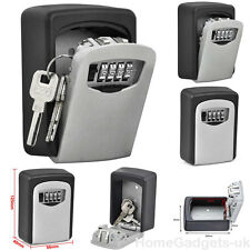 4 Digit Heavy Duty Wall Mounted Key Safe Storage Box Security Combination Lock
