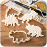 3Pcs Dinosaur Cookie Cutter Children Favor Biscuit Pastry Fondant Cake DIY Mould