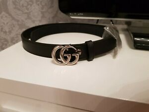 Ladies,womens gucci Belt Black.