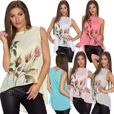 Geblümte Damen-Blusen ärmellose Damenblusen, - tops & -shirts