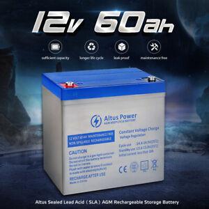 Altus Power AGM Deep Cycle Battery 12V 60Ah SLA Buggy Marine Caravan > 55 50 40