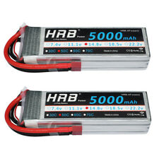 2x HRB 5000mAh 14.8V 4S Lipo Battery 50C 100C For Quadcopter Airplane Drone F550