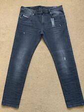 "Diesel Men's Thommer-C Stretch Slim-Skinny Grey Jeans, Size W36"", 32"", RRP£160"
