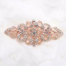 Wedding Bridal Dress Sash Vintage Style Rose Gold Brooch Pin Jewelry