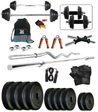 Bodyfit BF 18KG Weight Plates,5ft Rod,3ft Rod,2 D.RODS Home gym dumbell set.