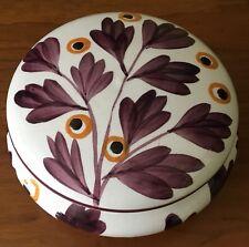 Vintage Hand Painted SMF Schramberg Germany Ceramic Dresser Trinket Box