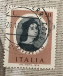 Francobollo Raffaello 1974
