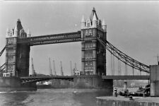 10x Old 35mm Negatives.Tourist Snaps Of London.Tower Bridge,etc.1950's.Curled