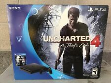 PS4 Game Console, Uncharted 4, A Thief's End Bundle 500GB Black. Brand New