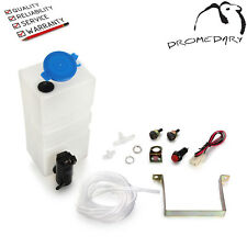 Universal Car Windscreen Washer Bottle Kit with Pump Button Switch 12V