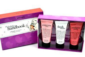 Philosophy Holiday Handbook Set pepermint stick, fresh cream & cranberry cream)