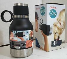NEW Asobu NA-SDB1 BLACK Vacuum Insulated Water Bottle with Dog Bowl 40oz/1.1L