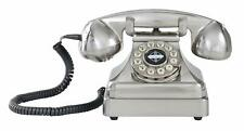 Crosley 1930s Kettle Classic Desk Phone Rotary Dial Fashion Plate Push Button