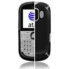 Skinomi Carbon Fiber Black Phone Skin+Screen Cover for Alcatel One Touch 871A