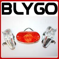 12V Pair Left Right Head Light Lamp + Tail Light 110cc 125cc Quad Dirt Bike ATV