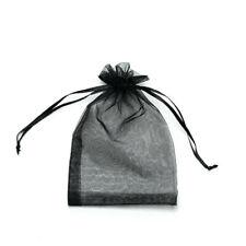 20pcs Black Drawstring Organza Bags Packaging Wedding Party Gift 7x9cm