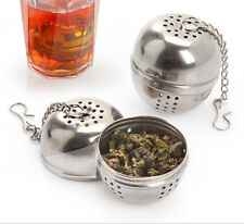 Stainless Steel Ball MA Loose Tea Leaf Strainer Herbal CG Spice Filter Diffuser