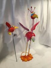 2 Nwt Exhart Large & Small Geekybeek Parrots