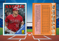 1988 Topps MIKE TROUT Custom Artist Novelty Baseball Card