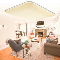 12W LED Deckenleuchte Deckenlampe Wohnzimmer Küche Panel Warmweiß IP44 A++