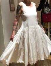 RUNDHOLZ DIP - Kleid mit Aufdruck // Cotton // SMALL // milk crisp // NP 430 Eur