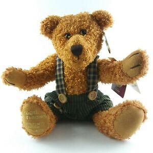 "Teddy Bear Plush 10"" Dan Dee 100th Anniversary Green Corduroy Articulated Brown"
