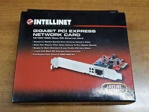 INTELLINET Gigabit PCI Express Network Card 10/100/1000 Mbps PCI Ethernet Card