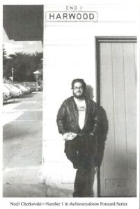 POET & BIOGRAPHER NEELI CHERKOVSKI SF JULY 1983 BEAT WRITERS PHOTO POSTCARD #1