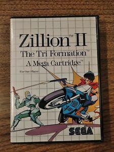 ZILLION II - SEGA MASTER SYSTEM COMPLETE/TESTED