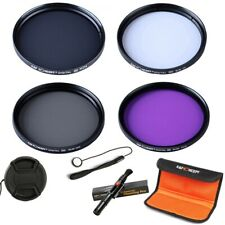 K&F Concept 55mm UV CPL FLD ND4 Filter Kit + Cleaning Pen for Canon Nikon Sony