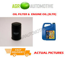 PETROL OIL FILTER + FS PD 5W40 OIL FOR FIAT GRANDE PUNTO 1.4 77BHP 2005-12