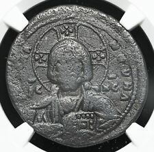 Anonymous Follis, Class A2, 976-1028 AD. Jesus Christ King of Kings, NGC Ch F