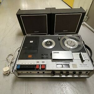 Vintage 1970's SONY TC 330 Reel to Reel Tape Recorder with Removable Speakers