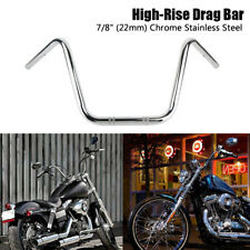 Motorcycle 7/8 22mm Handlebar High-Rise Drag Bar For Harley Honda Chopper Bobber