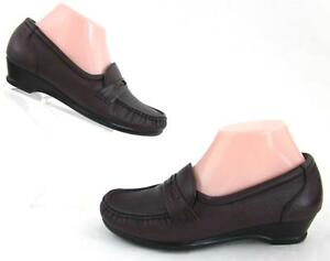 SAS 'Easier' Slip On Comfort Shoes Wine Leather Sz 6.5W WIDE