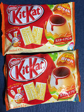 2 bags NEW Custard Pudding Easter KitKat / Kit Kat - Nestle Japan Chocolate Gift