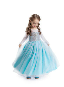 ELSA & ANNA® Girls Fancy Dress Snow Queen Princess Dress Halloween Costume E314