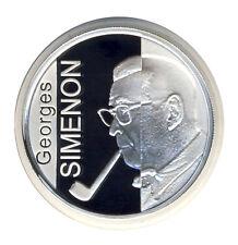 BELGIEN - 10 Euro 2003 - Georges SIMEON - SILBER - ANSEHEN (11629/1338N)