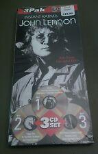 John Lennon Instant Karma 3 Pak Long Box SEALED RARE!!