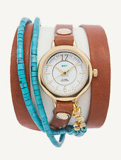 NEW MEXICO WRAP WATCH by La Mer Collections WOMENS Leather Bracelet - Gift Boxed