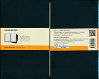 Moleskine soft cover Cahier Large Ruled Notebook Set of 3 BLACK NEW