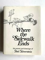 1974 Where the Sidewalk Ends Shel Silverstein HCDJ NF / VG