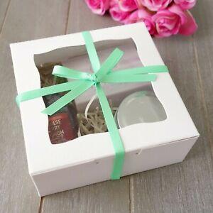 6x Display Medium Box 12.5cm Wedding Favour Baby Shower Macaron Cookie Boxes