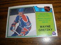 1983-84 OPC #217  Wayne Gretzky Edmonton Oilers Scoring Leader NrMt