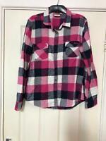 Lee Cooper Pink Shirt Size 16 Womens Long Sleeve (G230)
